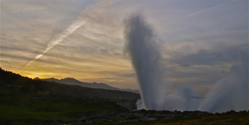 ✔   Bufones….. los géisers de la costa Asturiana… Un fenómeno único!!