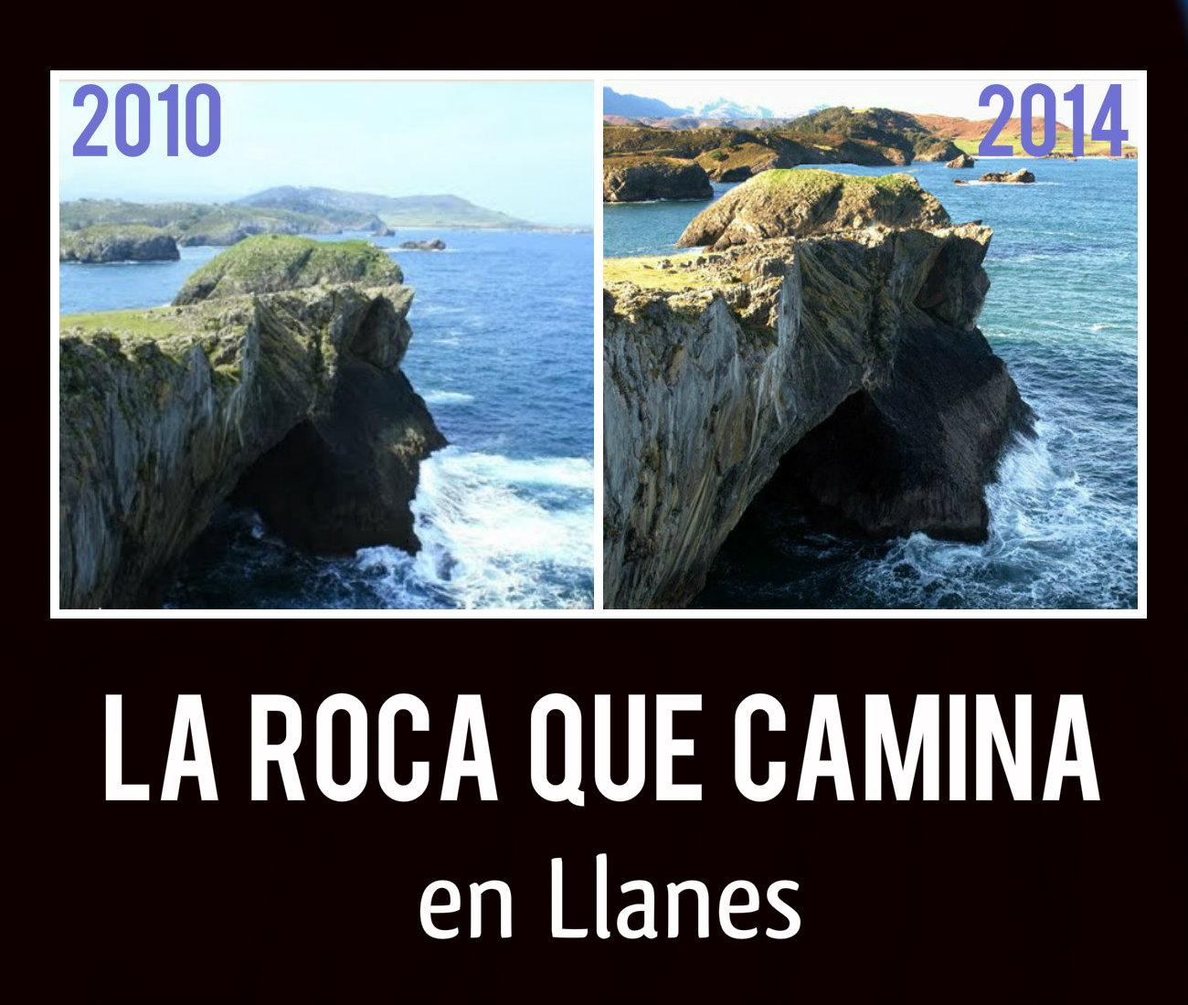 ✔ La Roca que camina en Llanes….