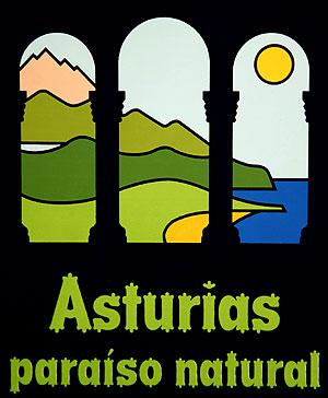 """El logotipo y eslogan turístico """"Asturias paraíso natural"""" cumple 30 años."""