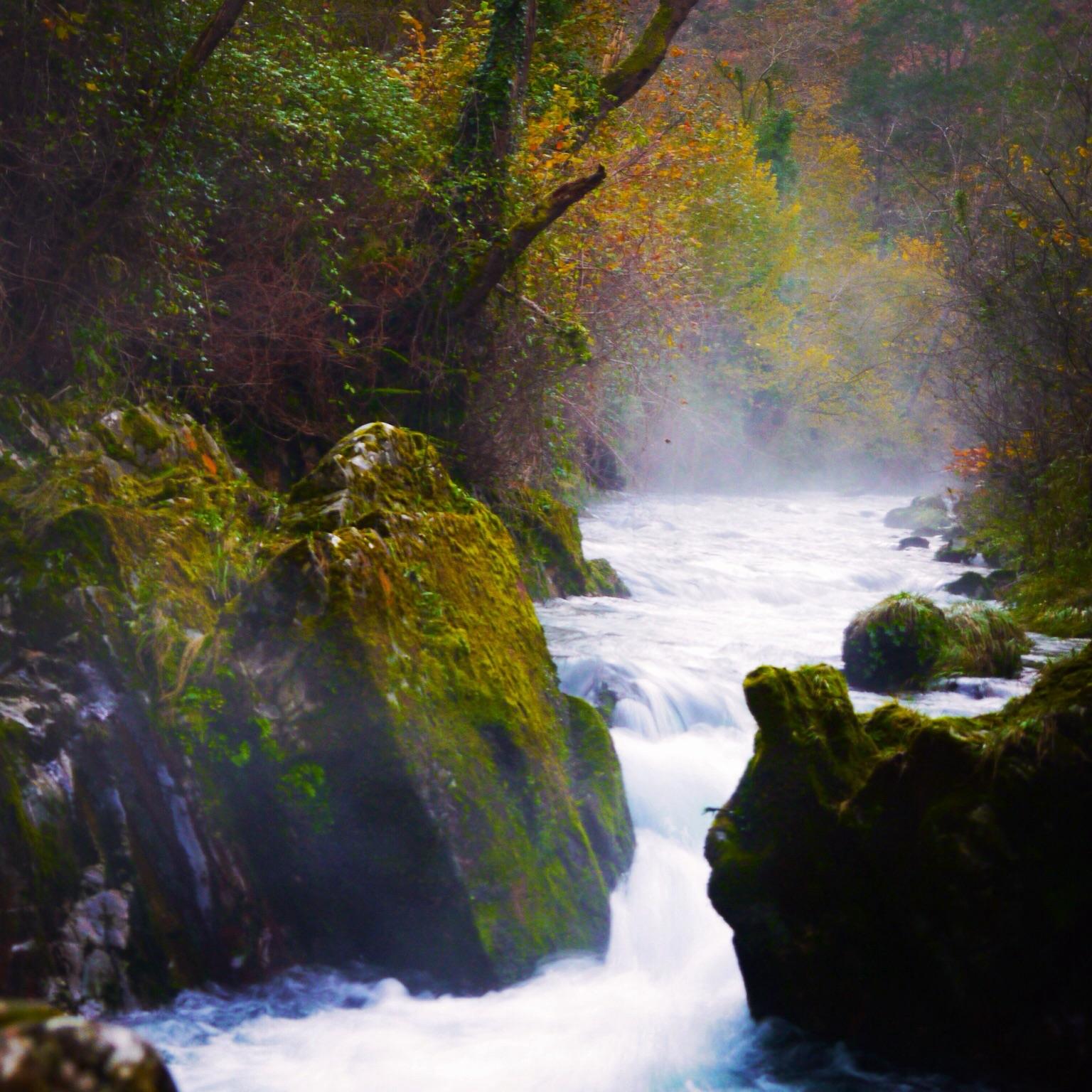 ✔ Senda del Nacimiento del Río Purón… El agua de los picos de Europa que viaja por las entrañas de la tierra para asomarse en un lugar cerca del mar..